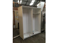 Large open fronted clothing display unit .
