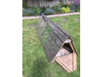 Rabbit run with built in shelter £10
