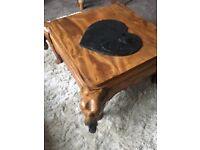 Sheesham elephant coffee table beautifully carved