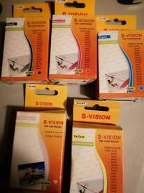 5 x s vision ink cartridges