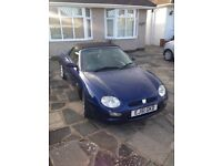 MG MGF 1.8 convertible blue