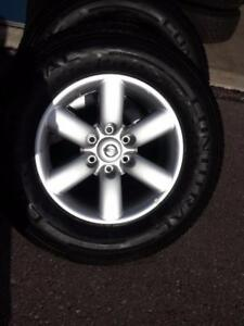 BRAND NEW TAKE OFF 2016 NISSAN TITAN 18 INCH ALLOY WHEELS WITH TPM SENSORS.