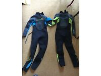 2 children's wetsuits age 6. Sold together or apart
