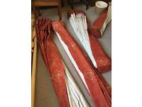 Pinch pleat curtains - 2 sets