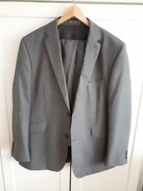 Grey Mens Suit with Jacket, Trousers, Waistcoat & Tie Size 38R