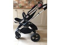 I candy peach in Black with Carrycot and stroller