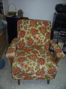 Spring loaded rocking chair