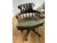 Leather chair -SOLD