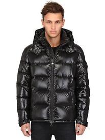 Brand New Men's Moncler Maya Puffer Jacket Black Genuine Size Small to Medium (2)