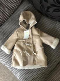 BNWT vertbaudet childs duffle coat