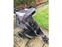 Phil & teds e3 stroller with rain cover