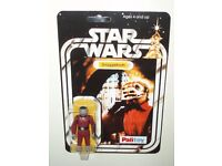 VINTAGE STAR WARS/EMPIRE STRIKES BACK/RETURN OF THE JEDI/SNAGGLETOOTH ON 20 BACK PALITOY REPRO CARD.