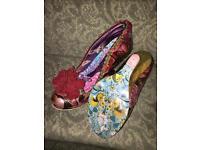 Beautiful Irregular Choice shoes size 6