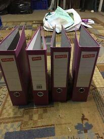 A4 purple lever arch files