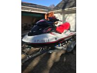 Seadoo 155 wake edition red and black inc trailor cover and ballast tanks