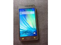 Samsung galaxy A3 16GB in champagne gold.