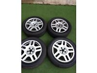 VW Golf MK4 16 Inch Alloy Wheels with Tyres 7mm Tread in West London Area