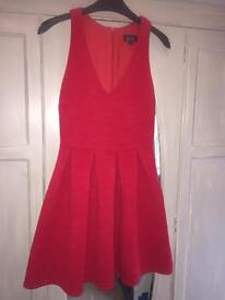 Ex con Topshop red dress size 8