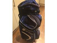 Motocaddy cart bag with hood and strap