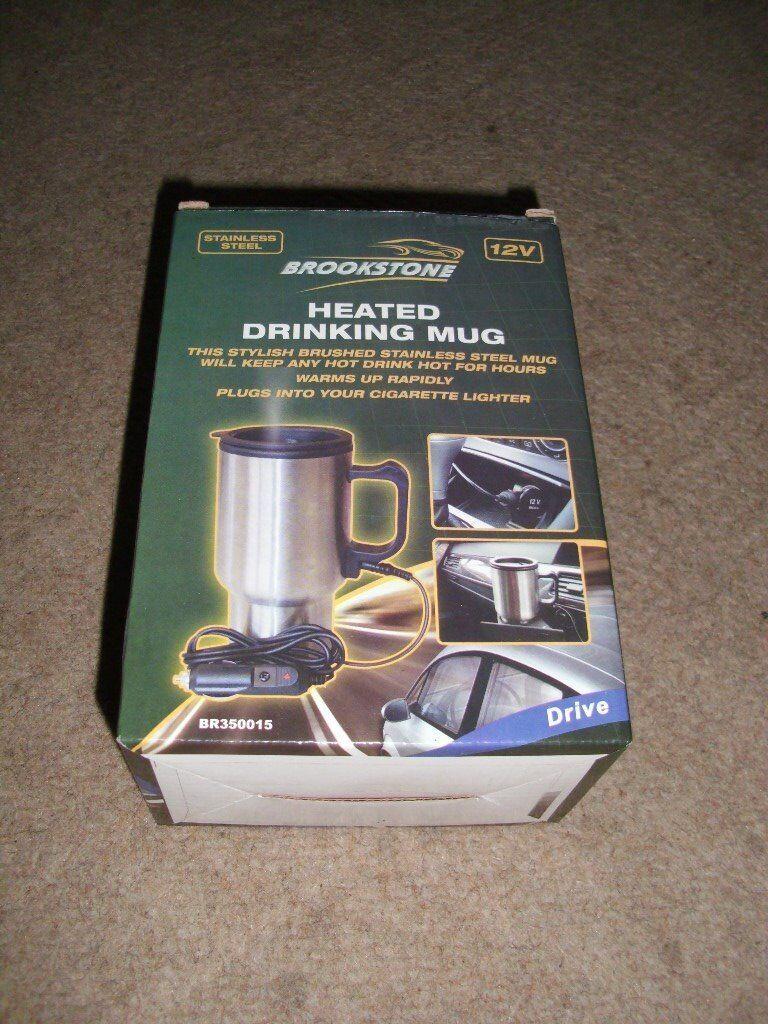 Brookstone heated drinking mug