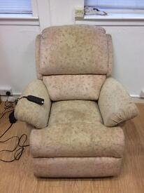 Fully reclining and inclining chair