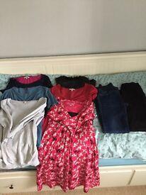 Bundle of maternity clothes. Size 10-12.