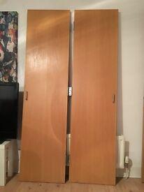 internal fire door + 2 hinged wardrobe doors