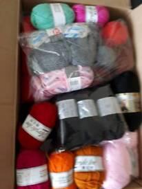Box of acrylic yarn