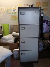 4 drawer Vickers filing cabinet