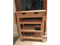 Wooden kitchen trolley/work station
