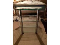 4-Tier, glass TV stand