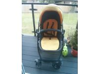 pram, carry cot and car seat Graco EVO 3-in-1 travel system