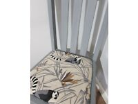 Set of 4 vintage oak dining chairs, Boho shabby chic tropical Lemar POSSIBLE LOCAL DELIVERY