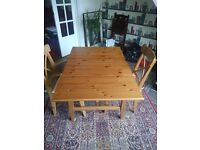 Ikea extending table and 2 chairs