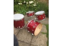 For Sale ****Beverley New Standard Red Sparkle Drum Kit