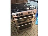 New World silver Gas double oven **sold subject to collection**