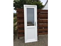 uPVC AAA* frosted glass, chrome handle, side door (nearly new) £120ono