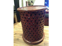 Myakka-brand round lattice side table - New - Collection only - REDUCED