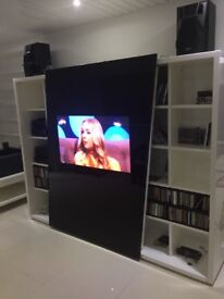 "Samsung 50"" plasma in sliding cabinet excellent codition."