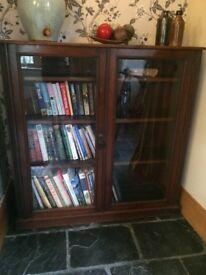 Antique Glazed Mahogany Bookcase