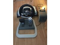 Genuine Official Xbox 360 Wireless Steering Wheel with force feedback