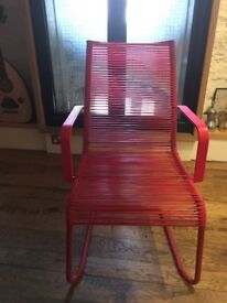 Red chair from Ikea