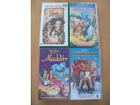 Lot of 7 Family Movies and Spice Girls VHS Video Tapes robin williams, disney, aladdin, hook, music