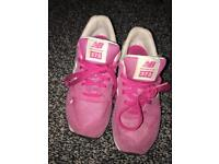 New balance pink trainers size UK1
