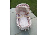 BABY MOSES BASKET - COTTON FABRIC - UNWANTED GIFT