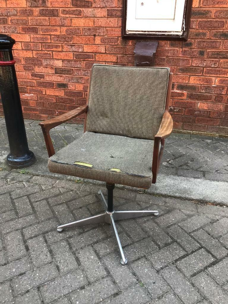 Vintage Scandinavian Style Office Swivel Chair Late Century