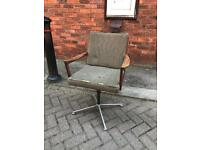 Vintage Scandinavian style office swivel chair late century