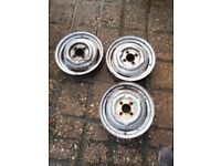 Morris Minor Wheel Rims x 3