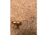 Brass cabinet knobs x 19