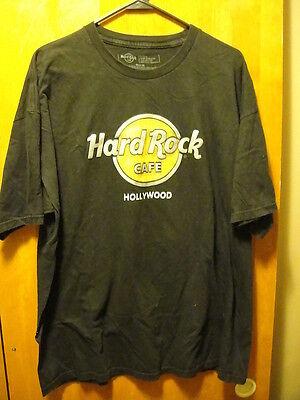 b0de60b7f7e4 HARD ROCK CAFE ~ XL ~ Hollywood California ~ Raised Lettering Black T Shirt